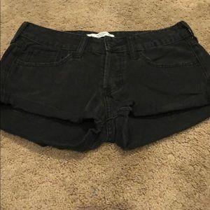 Black jean shorts size 2 w 26